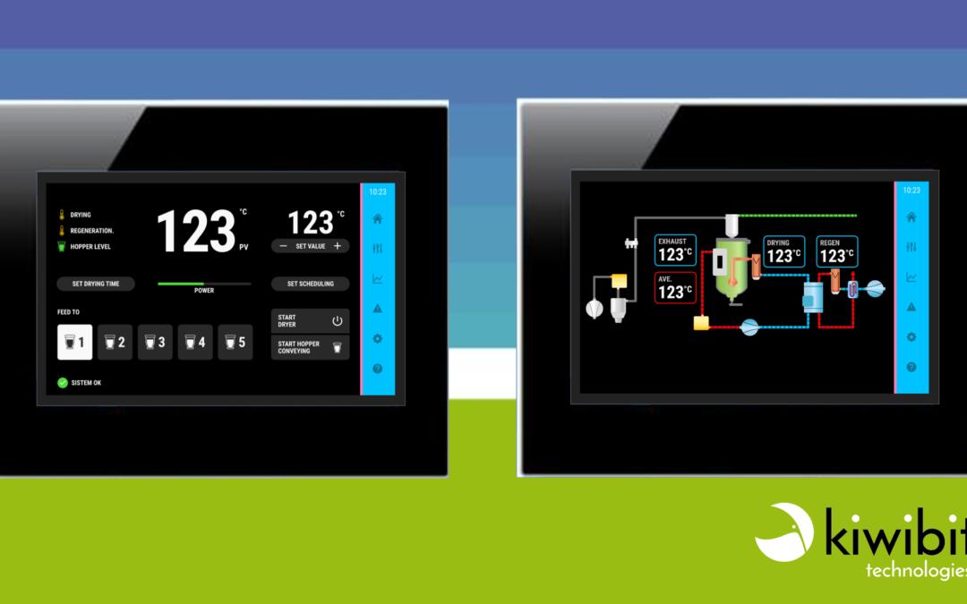 Sviluppo di un'interfaccia touchscreen per il controllo del processo di asciugatura di materiale plastico