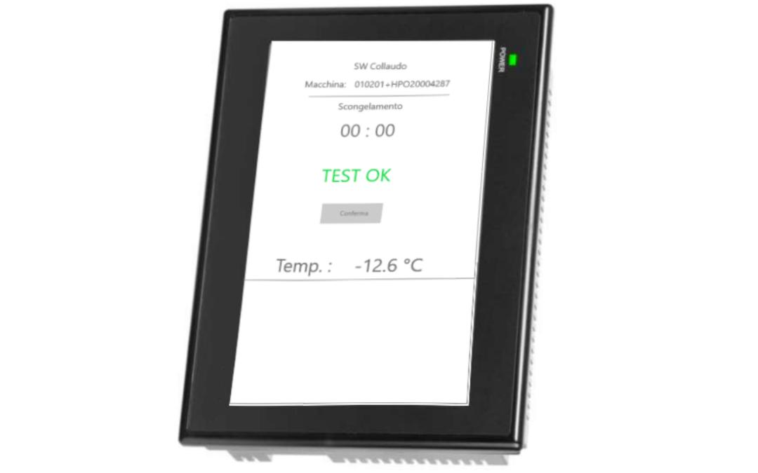 Software di collaudo della HMI di controllo per abbattitori termici