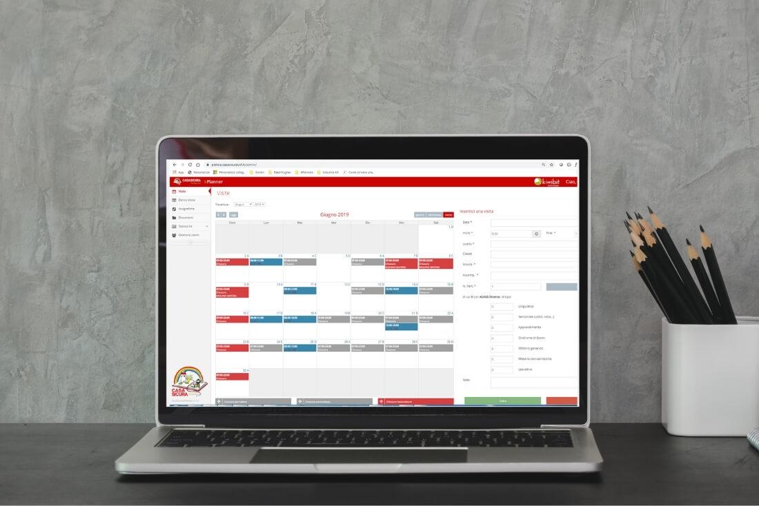 Un software in cloud per l'organizzazione delle visite a Casa Sicura